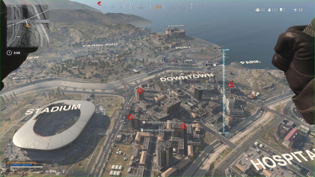 cod warzone landungs trick sattelitenschüsseln auf der map