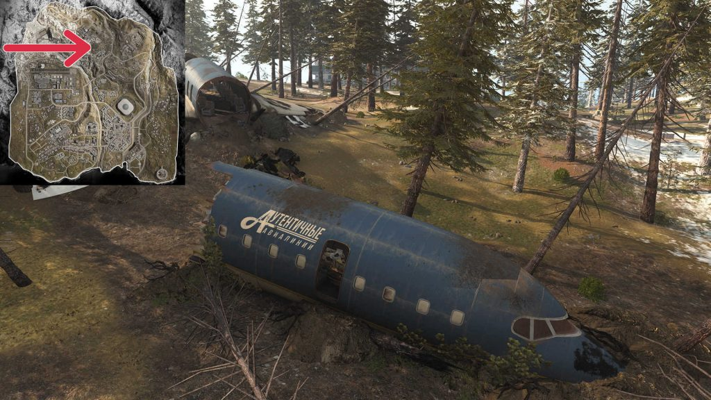 cod warzone map quiz bild 10 Fugzeug Crash