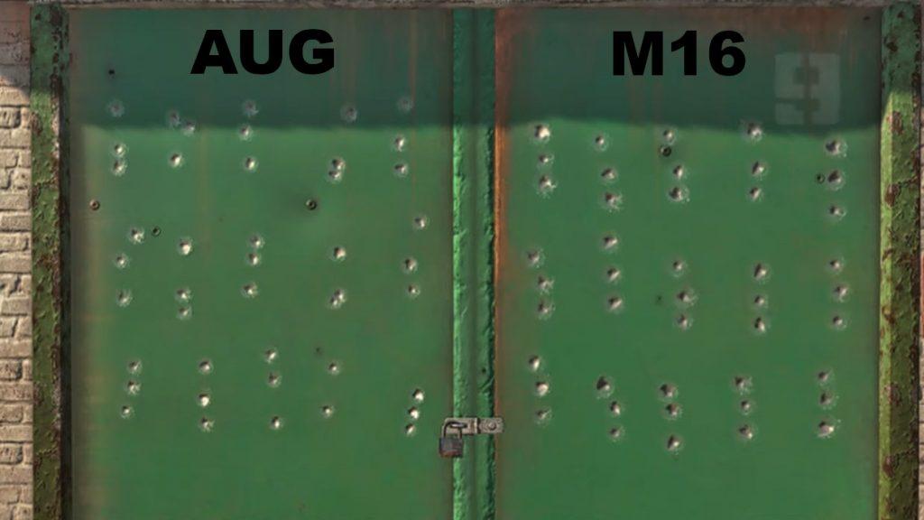 cod warzone waffen rückstoß vergleich M16 AUG