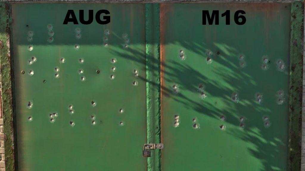 cod warzone waffen rückstoß vergleich mit auflegen M16 AUG