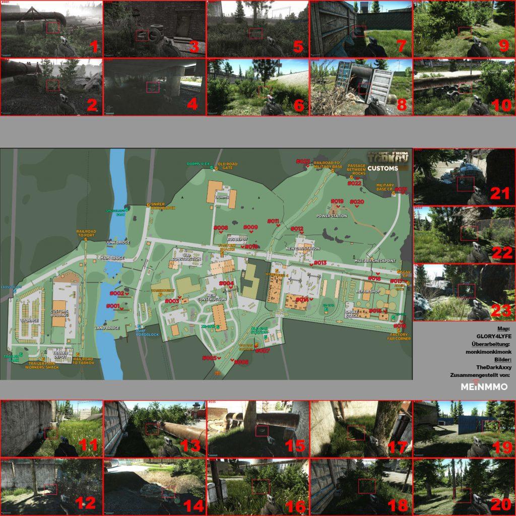 escape from tarkov maps zollgelände alle ground stashes update