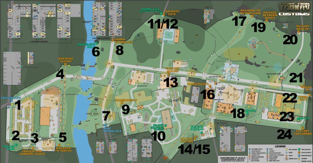 escape from tarkov maps zollgelände extraktionspunkte update