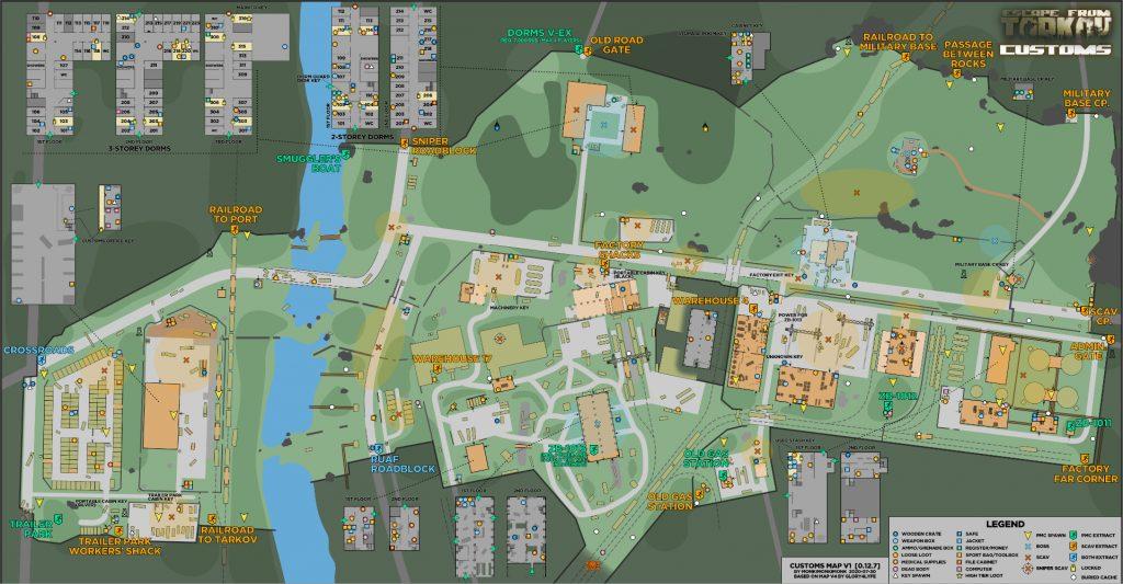 escape from tarkov maps zollgelände update