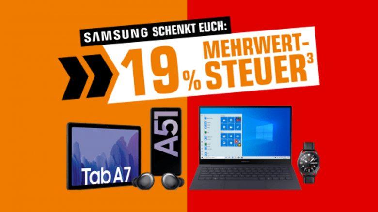 Samsung Smartphones, Tablets & Co. – Mehrwertsteuer sparen bei Saturn