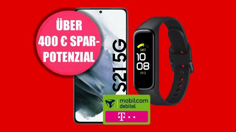 Galaxy S21 mit LTE-Tarif & Fitness-Tracker für 29,99 € mtl. bei MediaMarkt