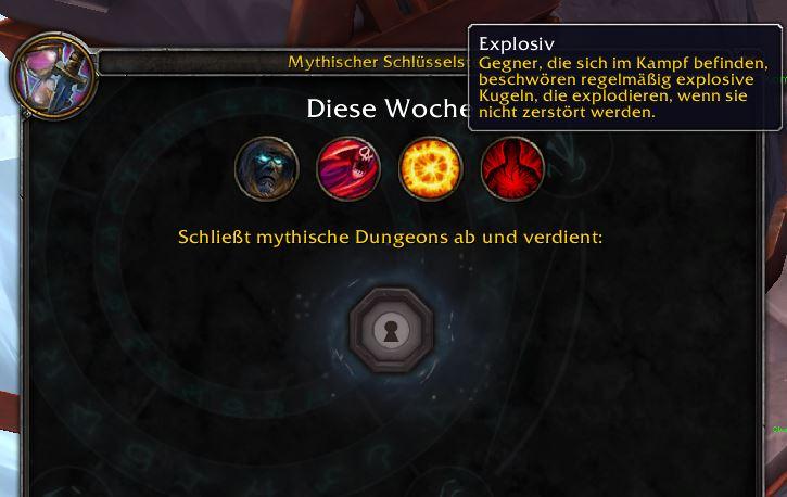wow mythic affix explosiv