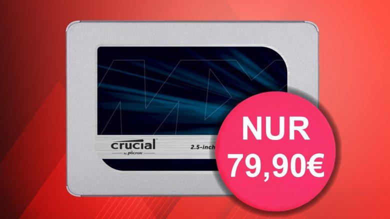 Stark reduziert: Crucial MX500 SSD 1 TB zum Hammerpreis bei Amazon