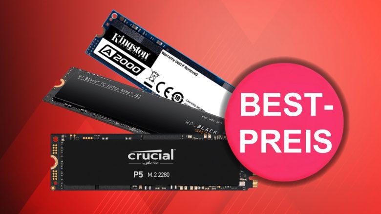 Günstig wie nie: 2 NVMe-SSDs bis 2 TB aktuell zum Bestpreis bei Amazon