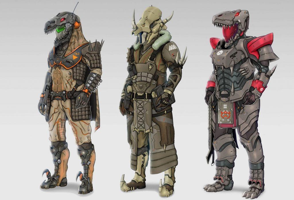 Destiny 2 Gear Dino Festival Lost Concept Art