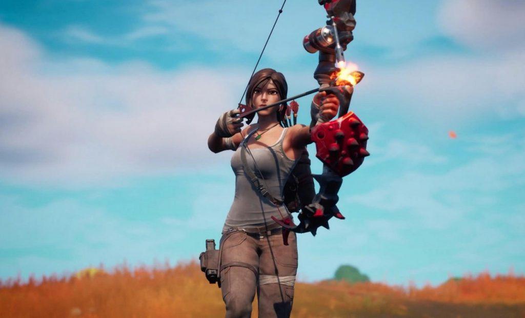 Fortnite Season 6 Chapter 2 Lara Croft Bogen