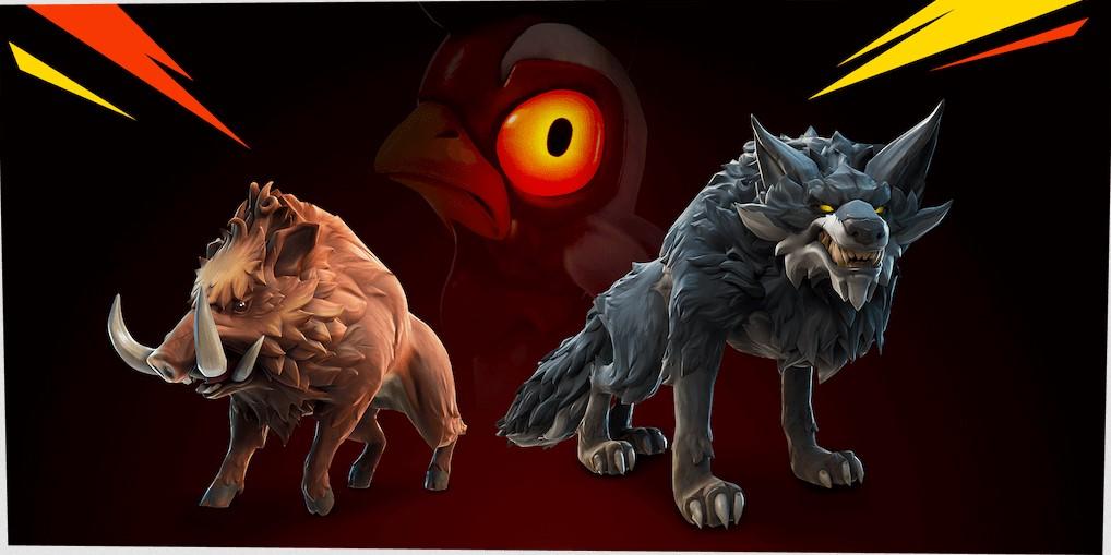 Fortnite Season 6 Chapter 2 Wolf Wildschwein Huhn