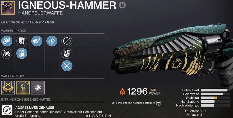 Igneous hammer Destiny 2
