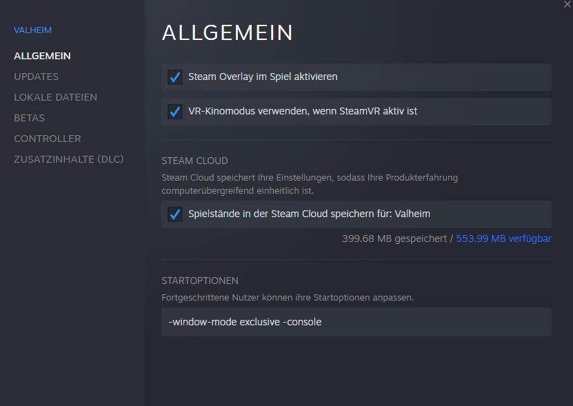 Valheim console steam