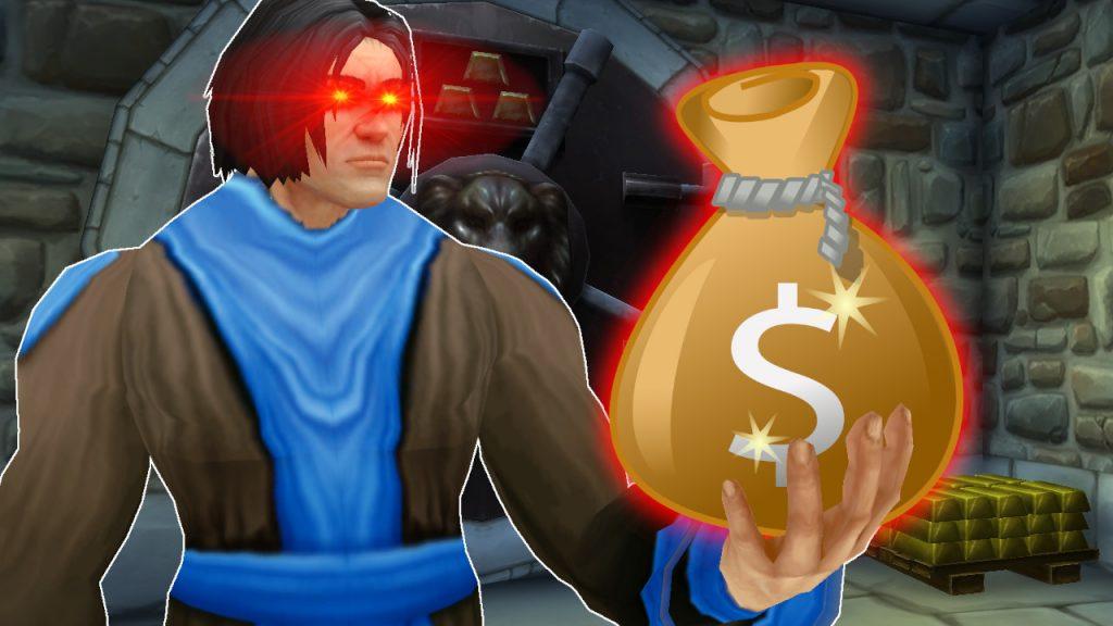 WoW Game Master Money Bag titel title 1280x720