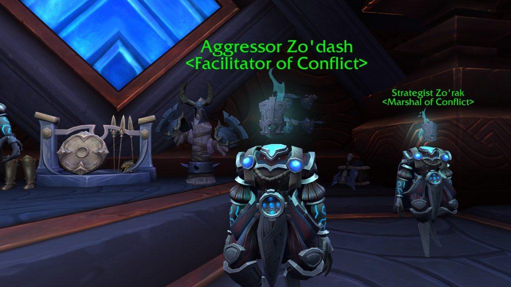 WoW Valor Point Trader Aggressor Zodash