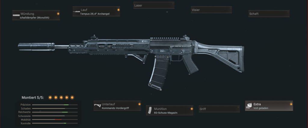 cod warzone waffen grau 556 setup beliebteste Waffen märz 21