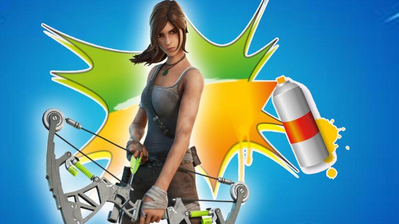 """Fortnite verschenkt gerade ein """"Lara Croft""""-Spray – So löst ihr es ein"""