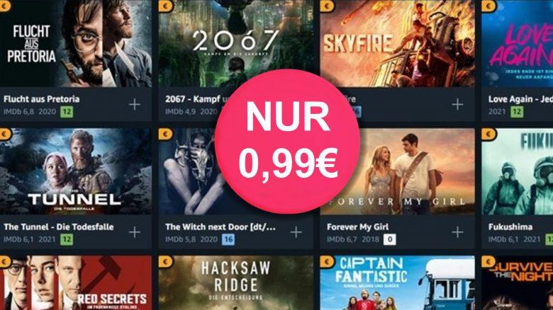 Amazon-Angebot: 166 Filme leihen für je 99 Cent mit Prime Video