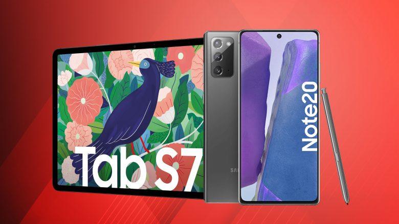 Samsung Galaxy Note 20 günstig, S7 Tablets reduziert & mehr bei Amazon