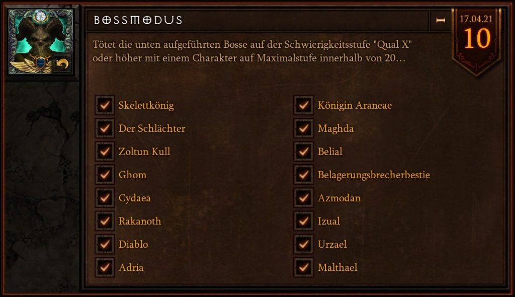 Diablo 3 Bossmodus Season 23