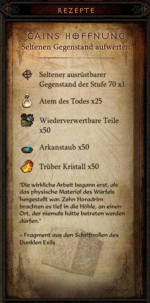 Diablo 3 Kanais Würfel Rezept 3