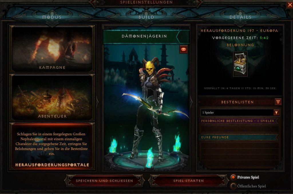 Diablo 3 Season 23 Herausforderungsportal
