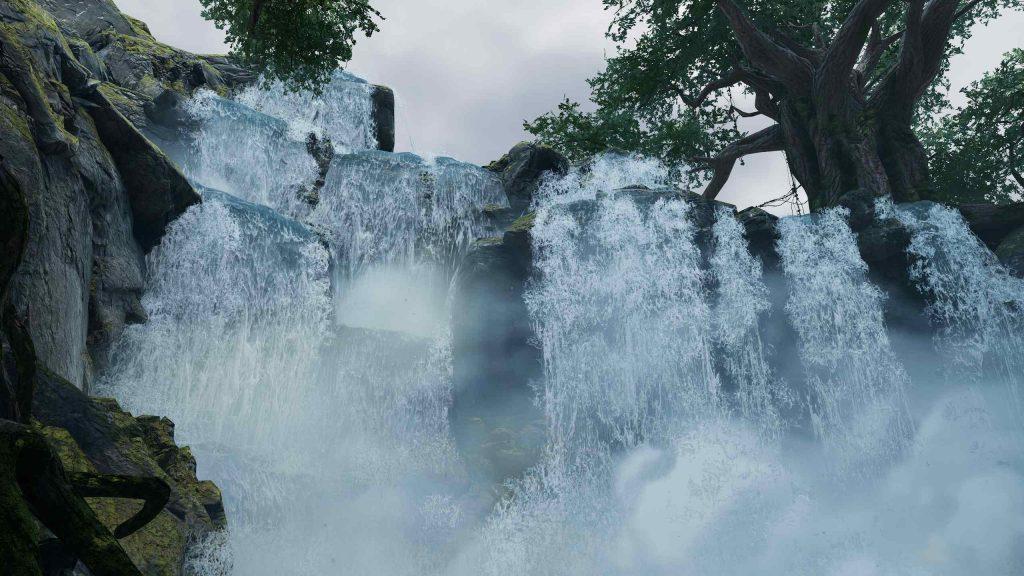 Outriders Wasserfälle hübsche Grafik
