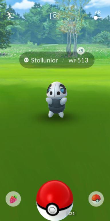 Pokemon GO Fangbildschirm