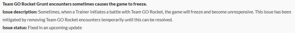 Pokémon GO Team GO Rocket Fehler Helpshift
