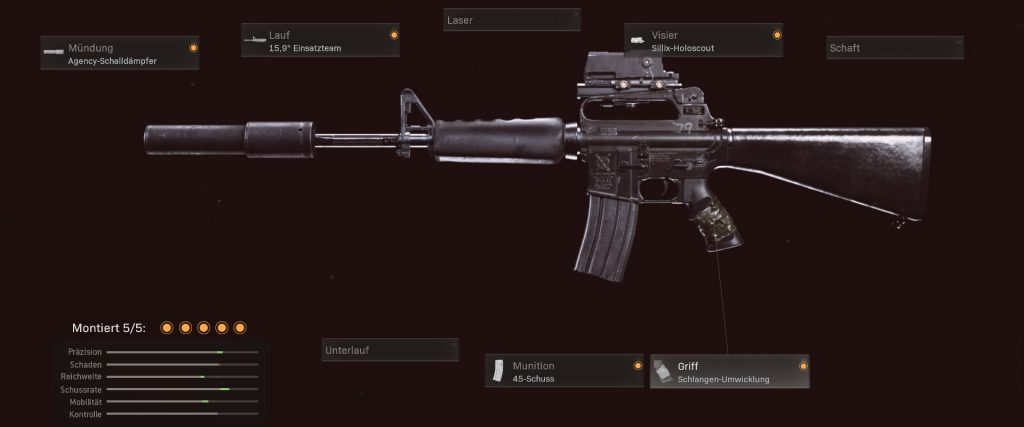 cod warzone waffen m16 setup als AUG alternative