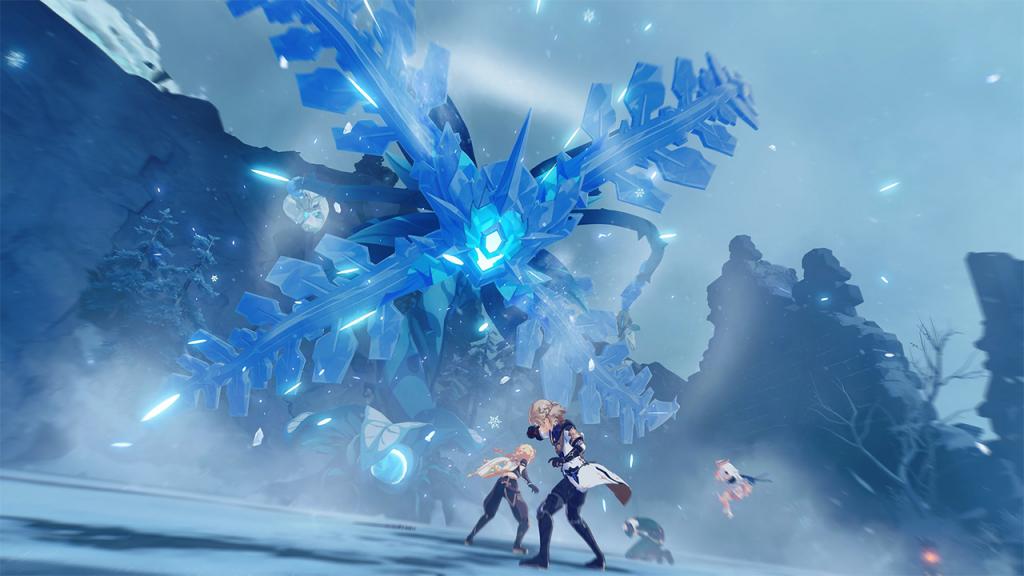 genshin impact dragonspine gebiet screenshot