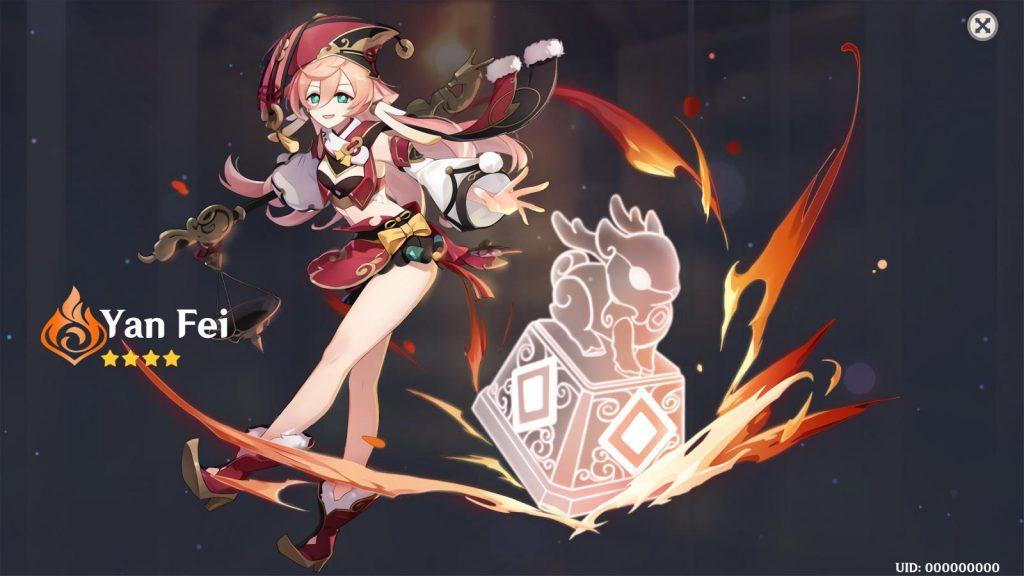 genshin impact yanfei character
