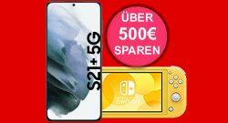 Galaxy S21+ mit Nintendo Switch lite & 60 GB LTE günstig bei MediaMarkt