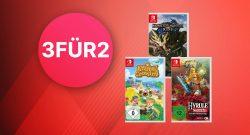 Nintendo Switch 3-für-2 Angebot für Spiele