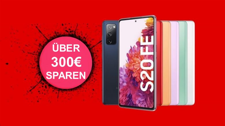 Galaxy S20 FE mit 12 GB LTE aktuell für 19,99 € im Monat bei MediaMarkt