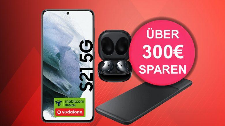 Galaxy S21 mit Ear Buds & Charger aktuell günstig im Tarif bei MediaMarkt