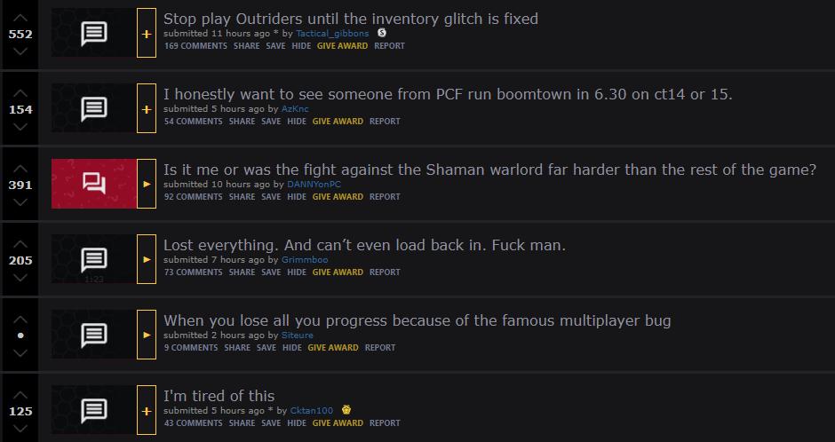 outriders loot bug reddit