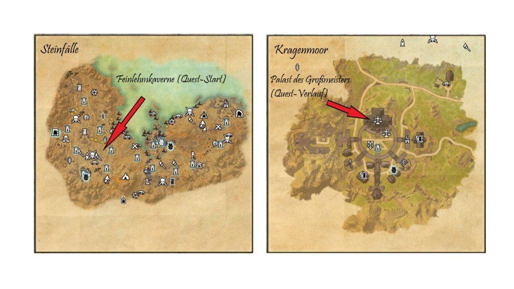 ESO Steinfälle und Kragenmoor Map