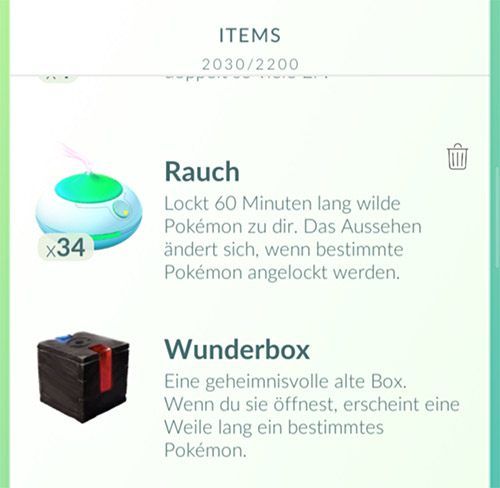 Pokémo GO Wunderbox Meltan Box Inventar