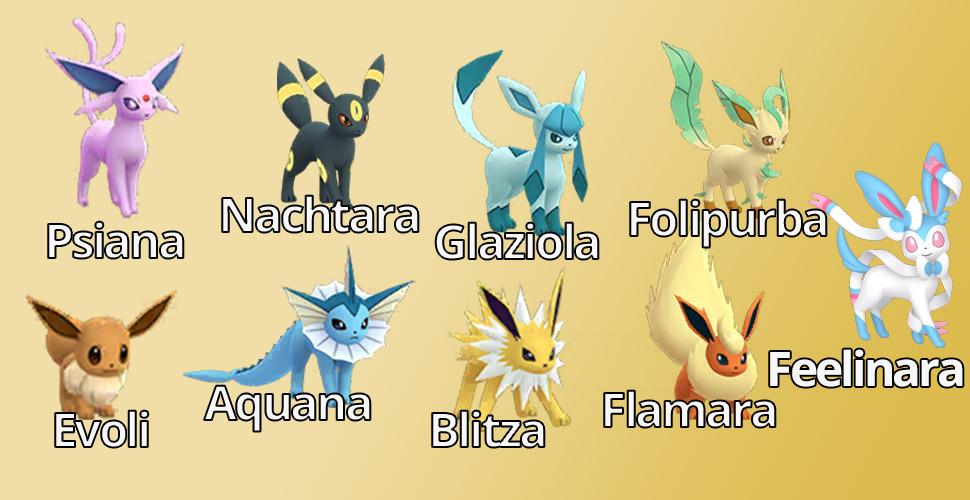 Pokémon GO Evoli Familie Übersicht Feelinara