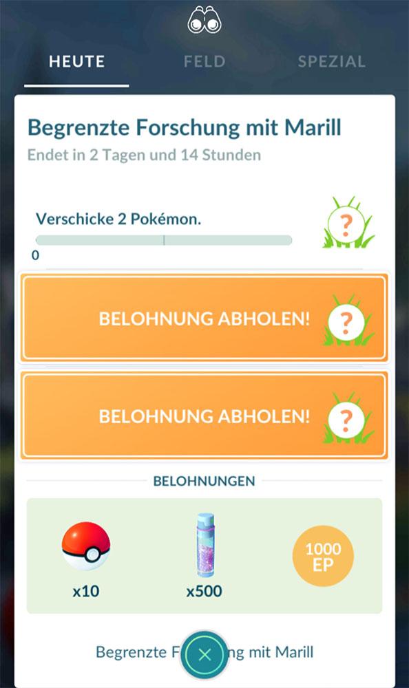 Pokémon GO Marill Event Früh