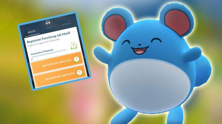 Pokémon GO Marill FOrschung Titel