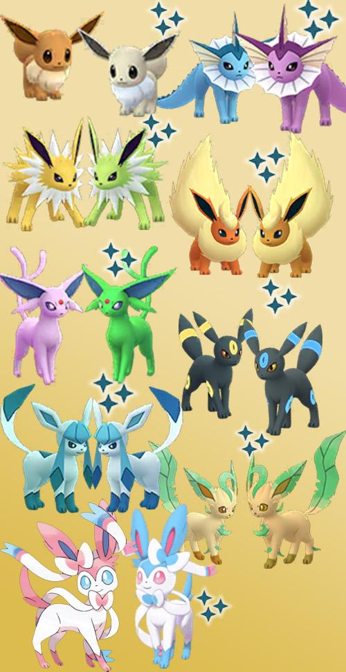 Pokémon GO Shiny Evoli Übersicht