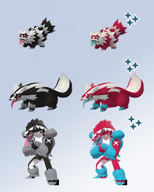 Pokémon GO Shiny Galar Zigzachs Geradaks Barrikadax