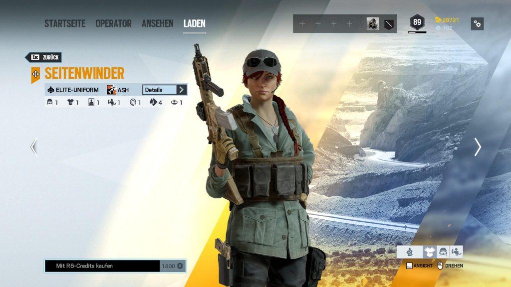Rainbow Six Siege Elite Skins Ash