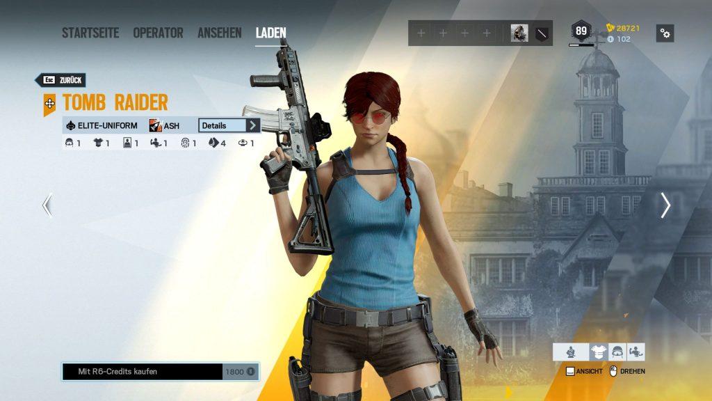 Rainbow Six Siege Elite Skins Ash Tomb Raider