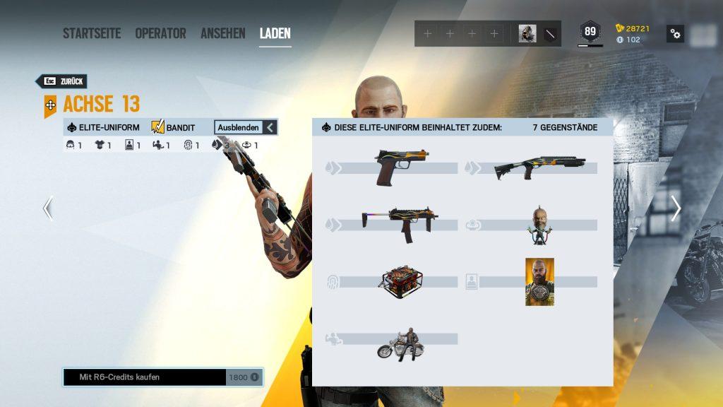 Rainbow Six Siege Elite Skins Bandit Zusatz
