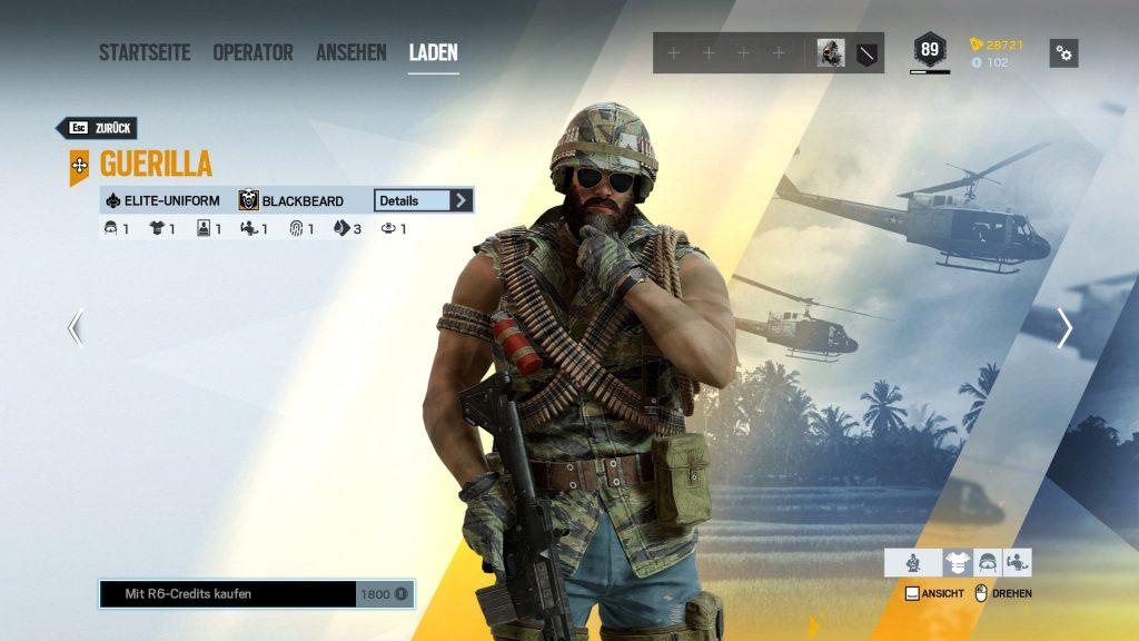 Rainbow Six Siege Elite Skins Blackbeard