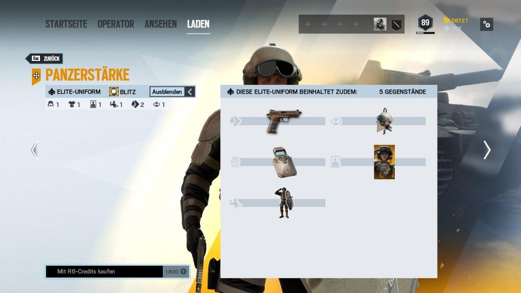Rainbow Six Siege Elite Skins Blitz Zusatz