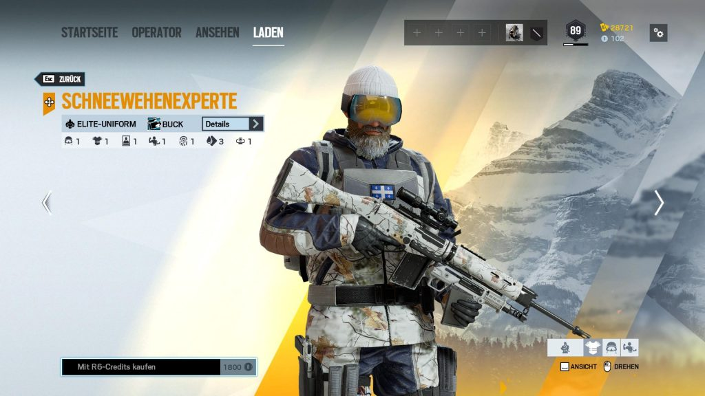 Rainbow Six Siege Elite Skins Buck
